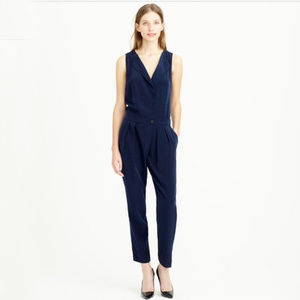 Jcrew Sleeveless Trench Jumpsuit